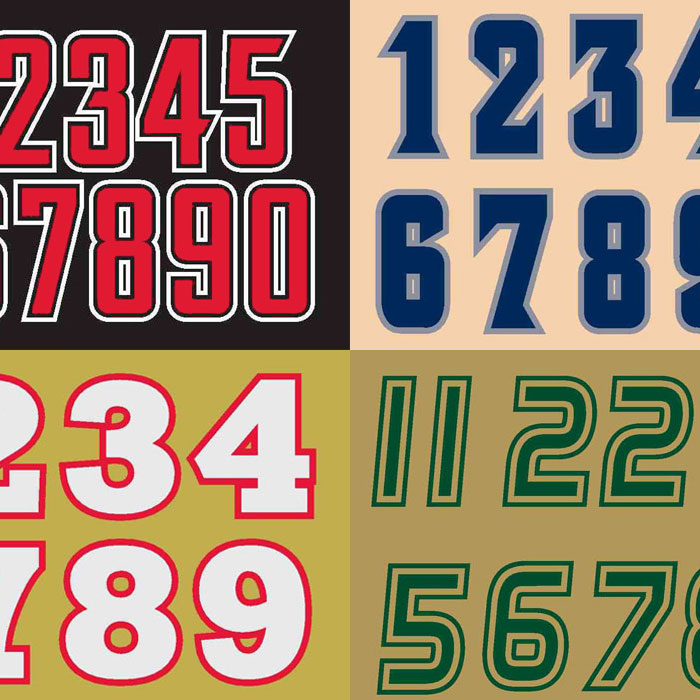 Sports Number Font Custom Font Numbers Style